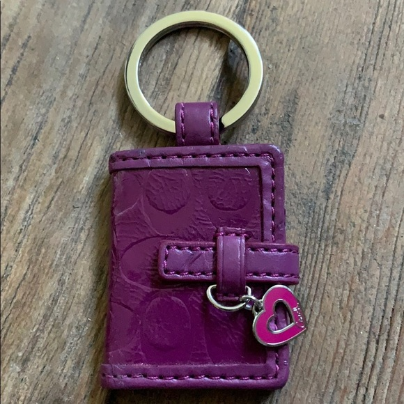 Coach Accessories - Coach purple keychain with room for pictures NWOT